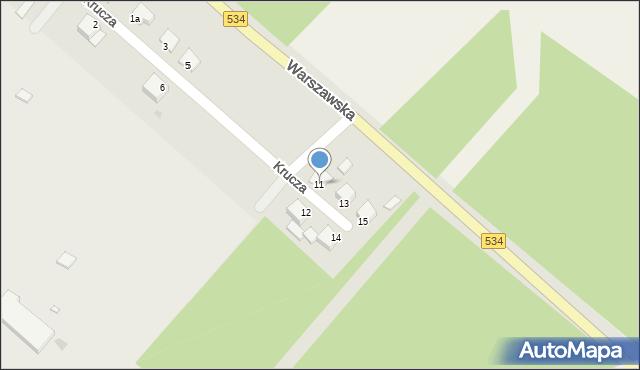 Grudziądz, Krucza, 11, mapa Grudziądza