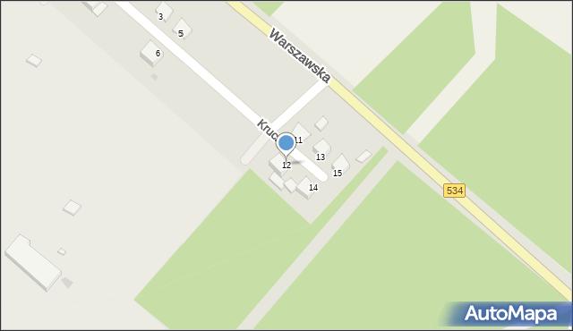 Grudziądz, Krucza, 12, mapa Grudziądza