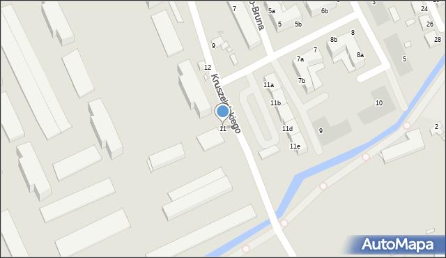 Grudziądz, Kruszelnickiego Zbigniewa, 11, mapa Grudziądza