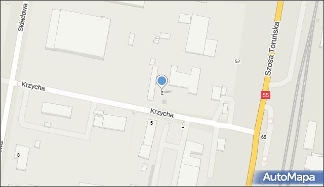 Grudziądz, Krzycha, por., 2, mapa Grudziądza