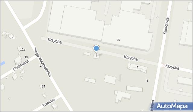 Grudziądz, Krzycha, por., 9, mapa Grudziądza