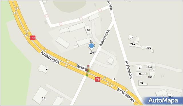 Jaworzno, Krakowska, 10d, mapa Jaworzno