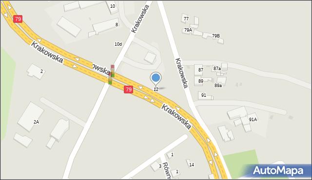 Jaworzno, Krakowska, 12, mapa Jaworzno