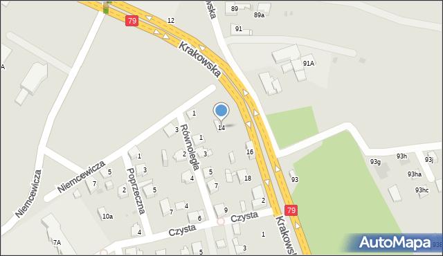 Jaworzno, Krakowska, 14, mapa Jaworzno