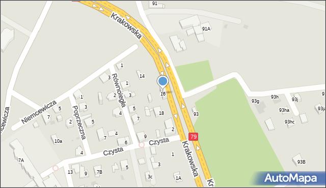 Jaworzno, Krakowska, 16, mapa Jaworzno