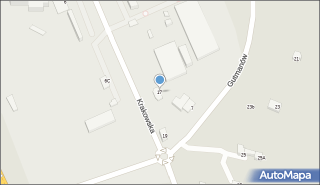 Jaworzno, Krakowska, 17, mapa Jaworzno