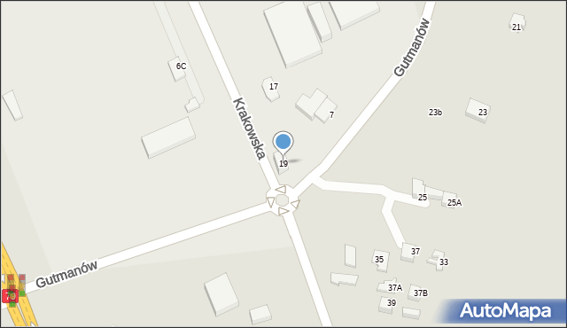 Jaworzno, Krakowska, 19, mapa Jaworzno