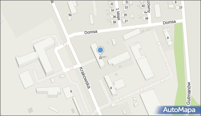 Jaworzno, Krakowska, 22, mapa Jaworzno