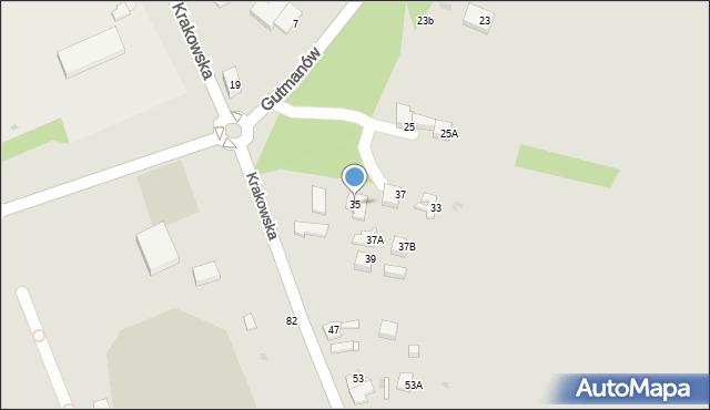 Jaworzno, Krakowska, 35, mapa Jaworzno