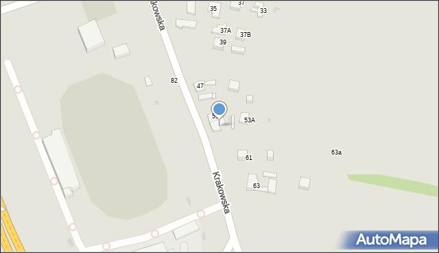 Jaworzno, Krakowska, 55, mapa Jaworzno