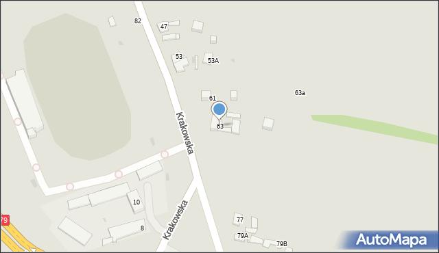 Jaworzno, Krakowska, 63, mapa Jaworzno