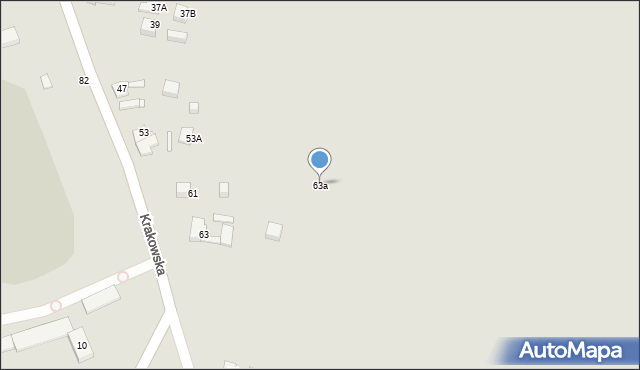 Jaworzno, Krakowska, 63a, mapa Jaworzno