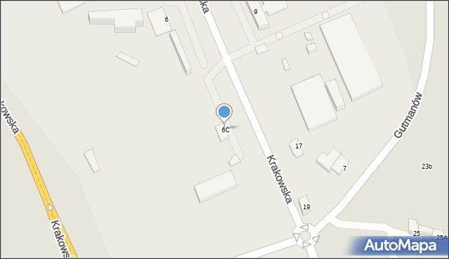 Jaworzno, Krakowska, 6C, mapa Jaworzno