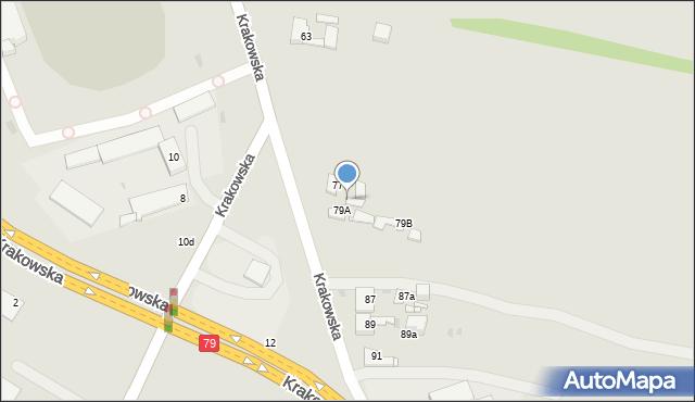 Jaworzno, Krakowska, 79, mapa Jaworzno