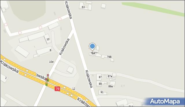 Jaworzno, Krakowska, 79A, mapa Jaworzno
