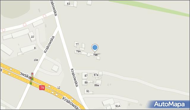 Jaworzno, Krakowska, 79B, mapa Jaworzno