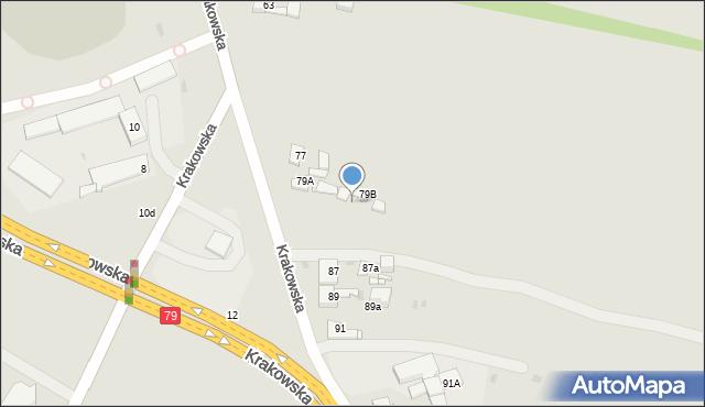 Jaworzno, Krakowska, 79c, mapa Jaworzno