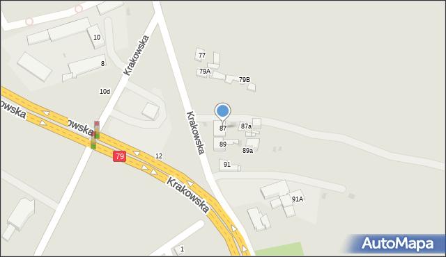 Jaworzno, Krakowska, 87, mapa Jaworzno
