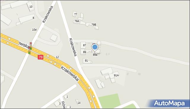 Jaworzno, Krakowska, 89a, mapa Jaworzno