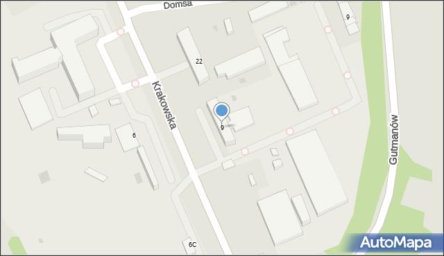 Jaworzno, Krakowska, 9, mapa Jaworzno