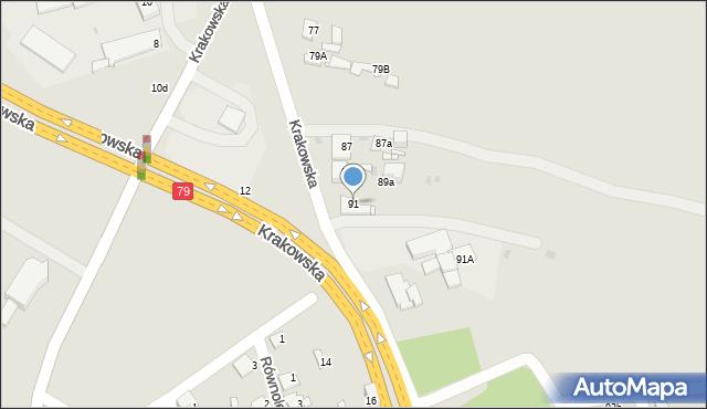 Jaworzno, Krakowska, 91, mapa Jaworzno