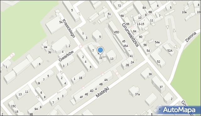 Jaworzno, Krasickiego Ignacego, bp., 11, mapa Jaworzno