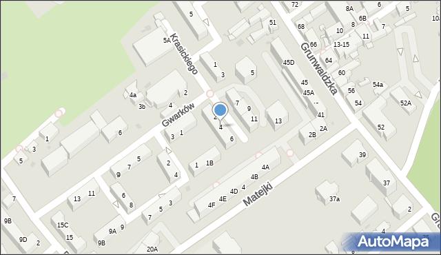 Jaworzno, Krasickiego Ignacego, bp., 4, mapa Jaworzno