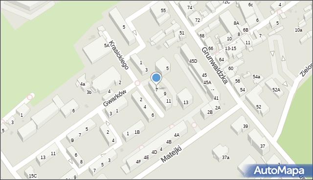 Jaworzno, Krasickiego Ignacego, bp., 7, mapa Jaworzno