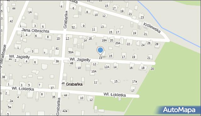 Jaworzno, Króla Władysława Jagiełły, 13, mapa Jaworzno
