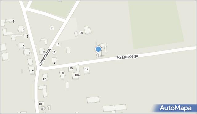 Jedwabne, Krasickiego, 3, mapa Jedwabne