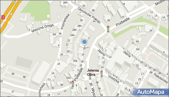 Jelenia Góra, Króla Jana III Sobieskiego, 10, mapa Jelenia Góra