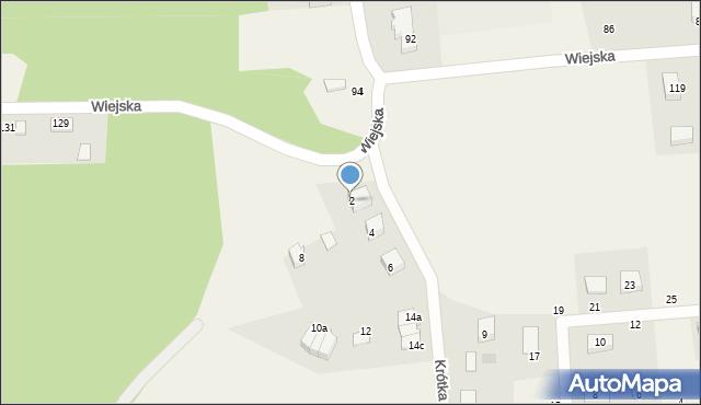 Kębłowo, Krótka, 2, mapa Kębłowo