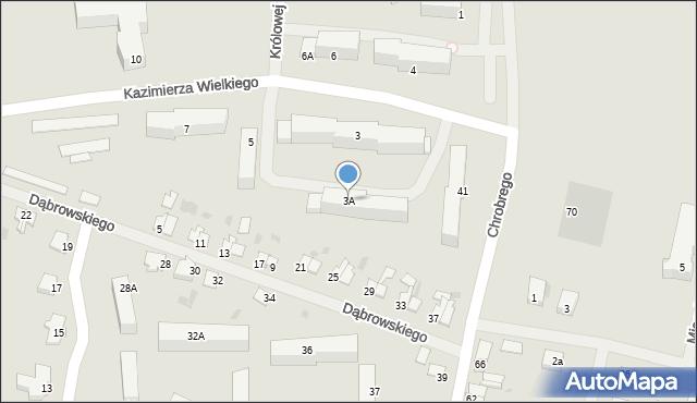 Kętrzyn, Króla Kazimierza Wielkiego, 3A, mapa Kętrzyn