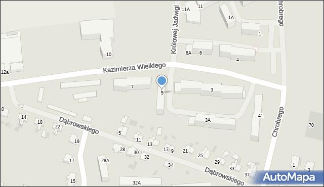 Kętrzyn, Króla Kazimierza Wielkiego, 5, mapa Kętrzyn