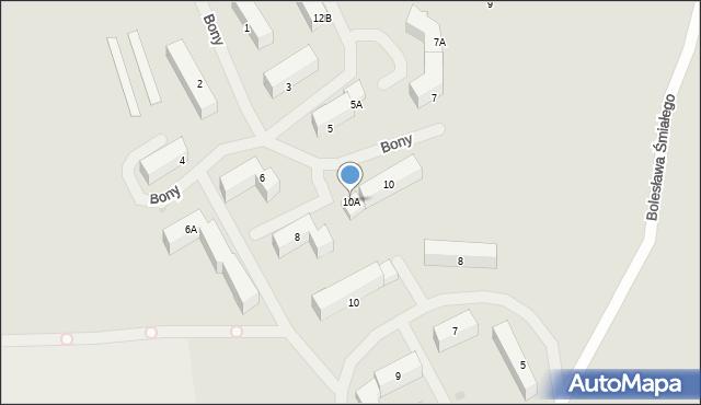 Kętrzyn, Królowej Bony, 10A, mapa Kętrzyn