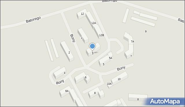 Kętrzyn, Królowej Bony, 3, mapa Kętrzyn