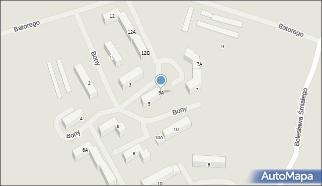 Kętrzyn, Królowej Bony, 5A, mapa Kętrzyn