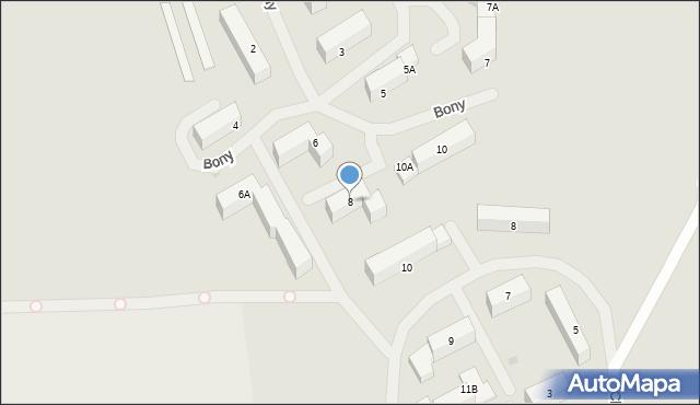 Kętrzyn, Królowej Bony, 8, mapa Kętrzyn