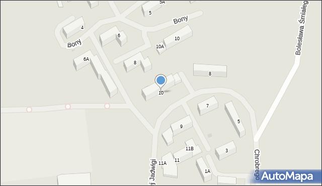 Kętrzyn, Królowej Jadwigi, 10, mapa Kętrzyn