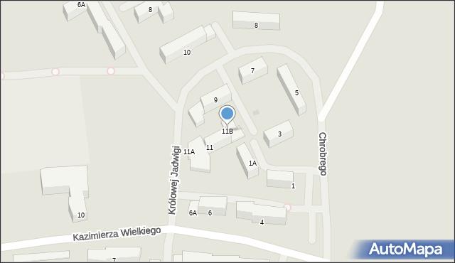 Kętrzyn, Królowej Jadwigi, 11B, mapa Kętrzyn