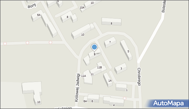 Kętrzyn, Królowej Jadwigi, 9, mapa Kętrzyn