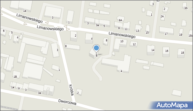 Kętrzyn, Krótka, 6, mapa Kętrzyn