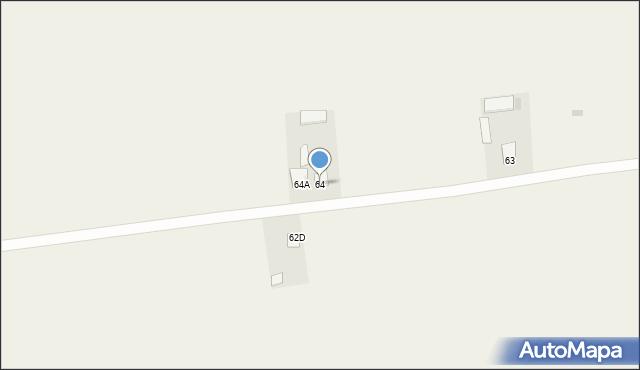 Kraczewice Prywatne, Kraczewice Prywatne, 64, mapa Kraczewice Prywatne