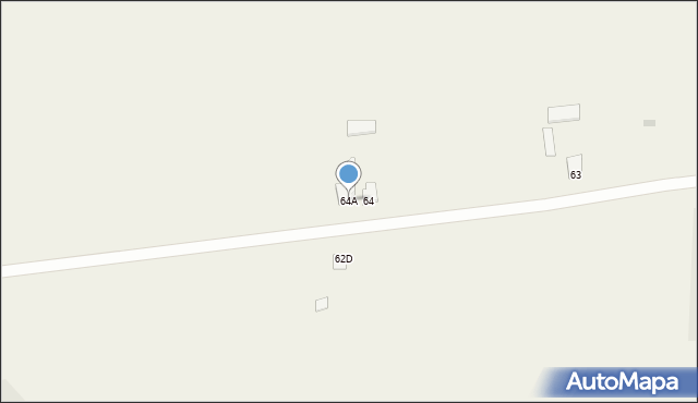 Kraczewice Prywatne, Kraczewice Prywatne, 64A, mapa Kraczewice Prywatne
