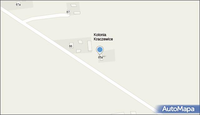 Kraczewice Prywatne, Kraczewice Prywatne, 65a, mapa Kraczewice Prywatne