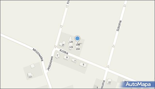 Krępice, Krótka, 10B, mapa Krępice