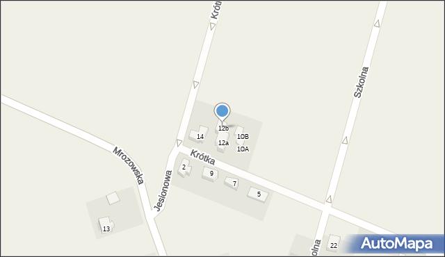 Krępice, Krótka, 12b, mapa Krępice