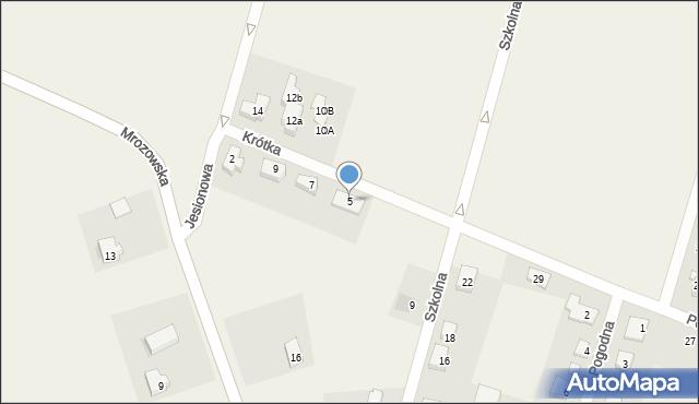 Krępice, Krótka, 5, mapa Krępice