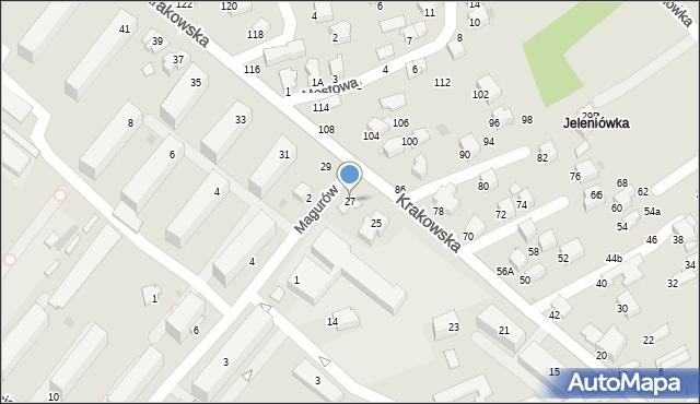 Krosno, Krakowska, 27, mapa Krosna