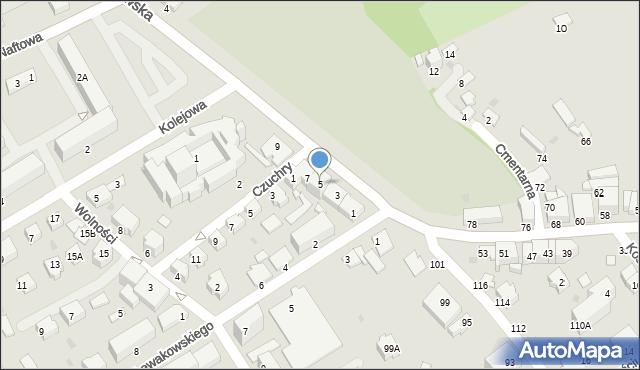 Krosno, Krakowska, 5, mapa Krosna